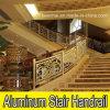 De aluminio de lujo Escalera Barandilla para Hotel Decoración
