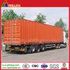 3半車軸40FT TruckヴァンCurtain Side貨物ボックストレーラー