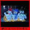 Dekoration-Licht im Freien des Motiv-3D Weihnachtsbuntes des Schneemann-LED