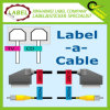 Escritura de la etiqueta auta-adhesivo del cable