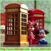 Caixa de música da cabine de telefone, caixa de música antiga