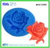 Moules en gros de savon de silicone de forme de Rose