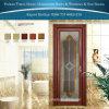 Puertas de lujo del aluminio del estilo/de aluminio del cuarto de baño con el vidrio de mosaico