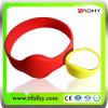 Bracelet élastique imperméable à l'eau de silicone d'IDENTIFICATION RF
