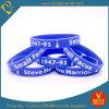 Bracelet et bracelet personnalisés de silicones d'impression de logo dans la qualité