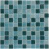 Плитки мозаики плавательного бассеина стеклянные, Miscellanea зеленый/белизна (ТРЕСКА. AA058-W)