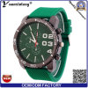 Los relojes más baratos de la venta al por mayor de venta Yxl-177 de la promoción del silicón del reloj del Mens del deporte de la dial del reloj del cronógrafo grande ocasional caliente del cuarzo