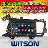 KIA 최적 조건 (W2-F9525K)를 위한 Witson 인조 인간 5.1 시스템 차 DVD
