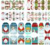 3D 크리스마스 나무 물 이동 못 예술 스티커 못 스티커
