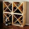12 Stackable твердых древесины хранения ликвора модели встречных верхней части кубика шкафа вина бутылки модульных