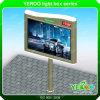 Fabricación puesta a contraluz de la cartelera de la publicidad al aire libre con el reloj del LED