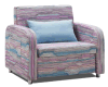 Самомоднейшая одиночная кровать софы ткани для живущий комнаты