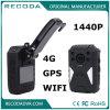 4G GPS WiFiの1440p夜間視界のボディによって身に着けられているカメラ