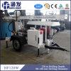 Profondeur hydraulique montée par remorque de la plate-forme de forage 120m de puits d'eau de Hf120W