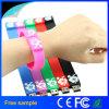 Faixa de pulso feita sob encomenda livre da vara da memória dos braceletes do USB do logotipo 32GB