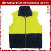 Veste polar reflexiva do trabalho do velo do azul de marinha do amarelo da segurança