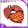 Коробка конфеты формы сердца шоколада подарка упаковывая бумажная
