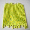 Желтая & зеленая сторновка бумаги МНОГОТОЧИЯ польки для партии
