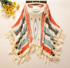 Heiße verkaufenfrauen-Mehrfarbenstrickjacke der dame-Shawls Female Cotton Clothes