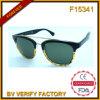 F15341 Zonnebril de Van uitstekende kwaliteit van het Frame van de Cirkel van PC&Metal van de Manier