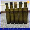Escuro - frasco de vidro verde para o petróleo verde-oliva