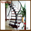 Steel delicato Engineering Staircase con Rod Railing Indoor (SJ-H838)