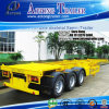Lowest Price Tri Axles Skeleton Container Semi-Trailer