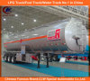頑丈な3 Axles Fuel Tank Trailer/35cbm 42cbm 45cbm 50cbm 55cbm 60cbm Fuel Tank Semi Trailer