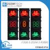 Diámetro señal de Bycicle de la señal de tráfico de 300m m con 2 colores rojos del verde amarillo 3 del temporizador de la cuenta descendiente de Digitaces