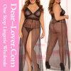 Nightgown нового способа сексуальный плюс женское бельё размера
