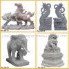 Statue animale en pierre naturelle Main-Découpée chinoise (YKAS-05)