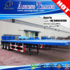 40ft Container를 위한 45tons 13 Meters Flatbed Type Semi Trailers