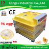 Capacité d'incubateur automatique d'oeufs des meilleurs prix de 96 oeufs pour le monde d'Ound de poulets (KP-96)