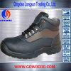 新しいデザインEmbosed革Mddleの切口の安全靴