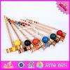 El croquet de madera del bebé al por mayor 2016, juguete divertido embroma el croquet de madera, 6-Player croquet de madera W01A167