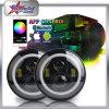 El PUNTO SAE 7  para el color del RGB de la linterna del halo del jeep que cambia ángel de la linterna de 7 pulgadas LED Eyes la luz del LED Drving para el Hummer del Wrangler del jeep