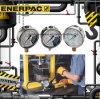 Fuerza hidráulica de la serie original de Enerpac GF y manómetros