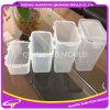 Plástico cuadrado microondas alto polaco transparente sello contenedor molde