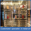 Het aangepaste Meubilair van het Kabinet van de Wijn van het Roestvrij staal Mondern Zilveren voor Restaurant