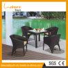 Aluminiumrahmen-Rattan, das Möbel Retangle Tisch-Set speist