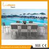 O alumínio anodizado confortável com o restaurante/hotel/banquete/a tabela de madeira plásticos do jantar/conferência ajusta a mobília de vime ao ar livre