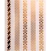 Etiqueta engomada del tatuaje del pelo con la etiqueta engomada del tatuaje del arte de la hoja de oro