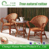 Tabela ajustada do Rattan da mobília do Rattan com as poltronas para o hotel Home