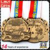 Goldmedaille mit Firmenzeichen-Stich des Abnehmer-3D