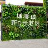 Parede artificial vertical da grama verde