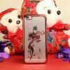 Caja plástica ligera de electrochapado del teléfono celular del patrón de la linterna del estilo chino para el iPhone 6plus