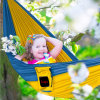 정원 또는 Outdoor Portable Fabric Rope Swinging/Hanging Travel Swing Camping Hammock 개릴라전 Dh01
