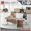 Tabella esecutiva dell'ufficio di legno di modo con i piedini del metallo (NS-D043)