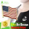 Mão - Customed feito emblema relativo à promoção da bandeira da forma dos EUA do metal