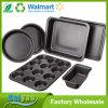 La cocina cuece al horno el conjunto de 6-Piece Bakeware, acero de carbón